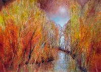 Annette-Schmucker-Landscapes-Autumn-Landscapes-Mountains-Modern-Age-Impressionism-Neo-Impressionism