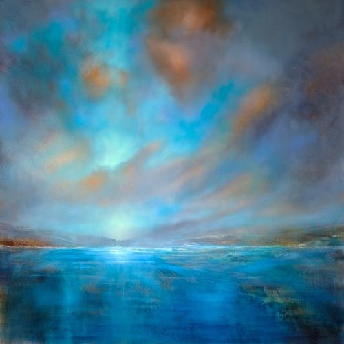 Annette Schmucker, Blaue Weite, Landscapes: Sea/Ocean, Landscapes: Summer, Contemporary Art, Expressionism