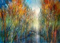 Annette-Schmucker-Landscapes-Autumn-Landscapes-Sea-Ocean-Modern-Age-Impressionism-Neo-Impressionism
