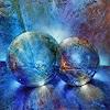 A. Schmucker, Zwei blaue Murmeln