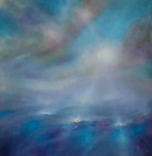 Annette Schmucker, Himmelblau, Landscapes: Sea/Ocean, Abstract art, Contemporary Art