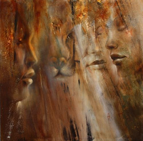 Annette Schmucker, Faces, People: Faces, People: Portraits, Neo-Impressionism, Expressionism