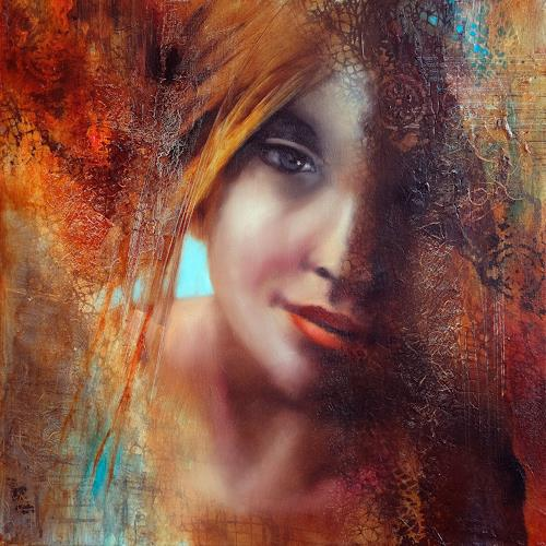 Annette Schmucker, Shadows, People: Faces, People: Women, Contemporary Art, Expressionism