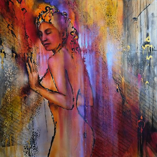 Annette Schmucker, Tagtraum, People: Women, Erotic motifs: Female nudes, Contemporary Art, Expressionism