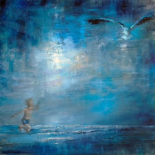 Annette Schmucker, Fliegen, People: Children, Animals: Air, Neo-Expressionism, Expressionism