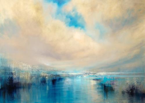 Annette Schmucker, Angekommen, Landscapes: Sea/Ocean, Landscapes: Mountains, Contemporary Art, Expressionism