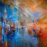 Annette-Schmucker-Landscapes-Mountains-Miscellaneous-Buildings-Contemporary-Art-Contemporary-Art
