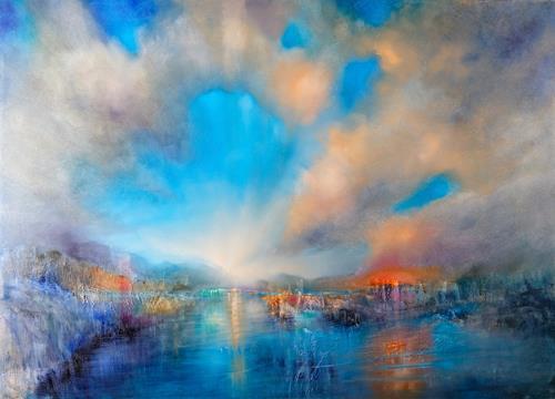 Annette Schmucker, Eröffnet, Landscapes: Mountains, Landscapes: Beaches, Contemporary Art, Expressionism