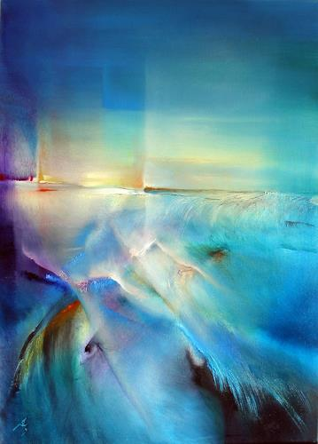 Annette Schmucker, Nordlicht, Abstract art, Miscellaneous Landscapes, Contemporary Art, Expressionism