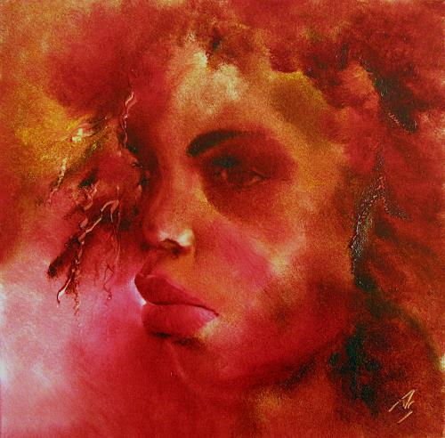 Annette Schmucker, O.T. (807), People: Faces, People: Women, Contemporary Art, Abstract Expressionism