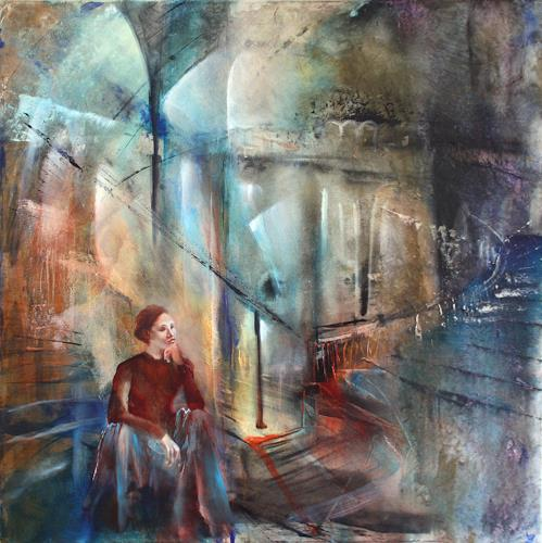 Annette Schmucker, Waiting, People: Women, Architecture, Contemporary Art, Expressionism