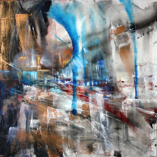 Annette Schmucker, Theaterplatz, Abstract art, Architecture, Contemporary Art, Expressionism