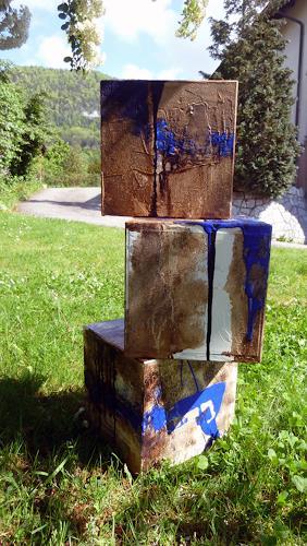 Renu G., Cubes, Abstract art, Contemporary Art