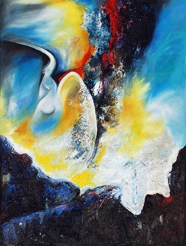 Renu G., Engel / Angel, Fantasy, Abstract art, Modern Age
