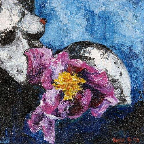 Renu G., Flowerpower, Erotic motifs: Female nudes, Plants: Flowers, Modern Age