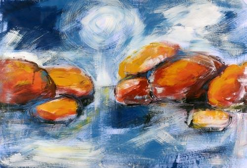 Renu G., on the Rocks, Landscapes: Sea/Ocean, Decorative Art, Modern Age