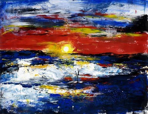 Renu G., Enjoy the sunset, Landscapes: Sea/Ocean, Movement, Modern Age