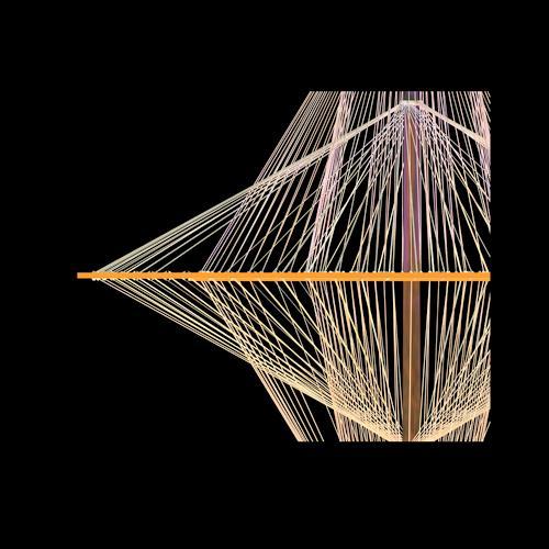 Ralfonso, Ralfonso - Kreisel Light and Cable Sculpture, Abstract art, Op-Art