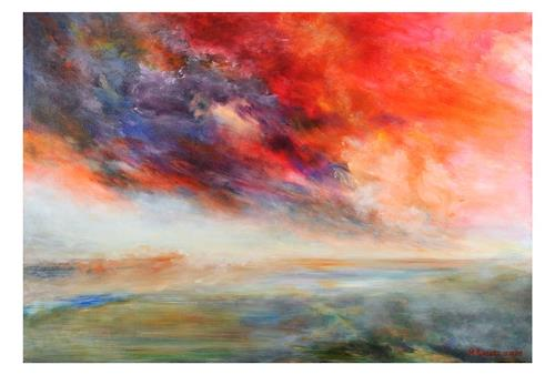 Rikka AYASAKI, Passions- sunset, Fantasy, Movement, Contemporary Art, Expressionism