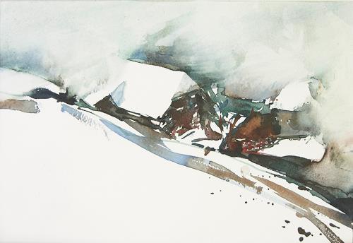 Christina Kläfiger, Stürmisch, Architecture, Landscapes: Winter, Expressionism