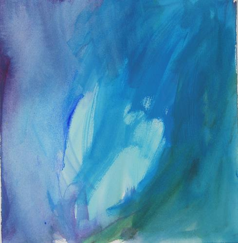 Christina Kläfiger, Blue, Fairy tales, Plants: Flowers, Contemporary Art