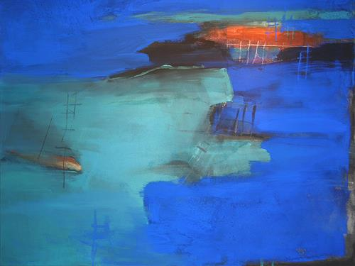 Christina Kläfiger, Inselsicht, Abstract art, New Image Painting, Abstract Expressionism