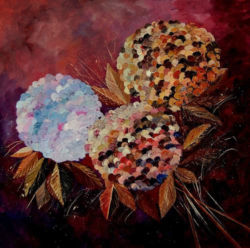 pol ledent, Hydrangeas 88, Plants: Flowers, Contemporary Art, Expressionism