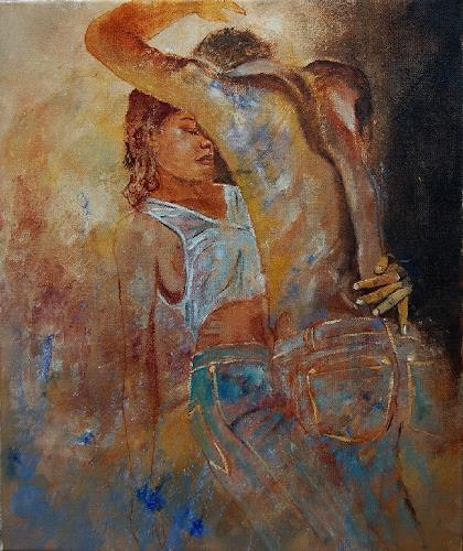 pol ledent, in love 56, Erotic motifs: Female nudes, Contemporary Art