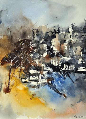 pol ledent, watercolor 212032, Abstract art, Contemporary Art