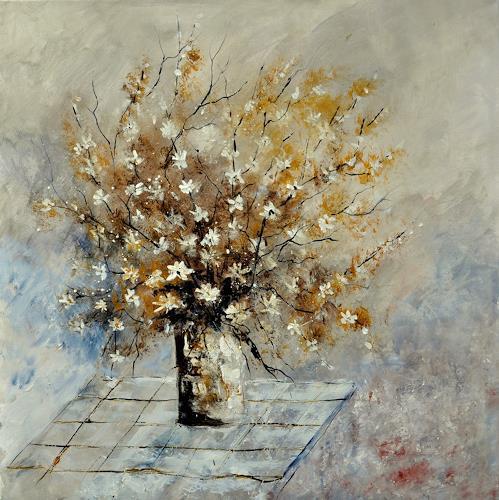 pol ledent, still lige 882120, Plants: Flowers, Impressionism, Modern Age