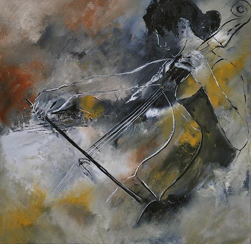 pol ledent, Playing cello, Music: Instruments, Contemporary Art, Expressionism