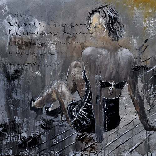 pol ledent, Caroline 77, Erotic motifs: Female nudes, People: Models, Neo-Impressionism, Abstract Expressionism