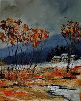 pol-ledent-1-Nature-Wood-Landscapes-Autumn-Modern-Age-Impressionism-Neo-Impressionism