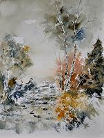 pol-ledent-1-Landscapes-Autumn-Plants-Trees-Modern-Age-Impressionism-Neo-Impressionism