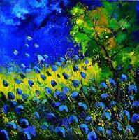 p. ledent, Blue poppies 8871