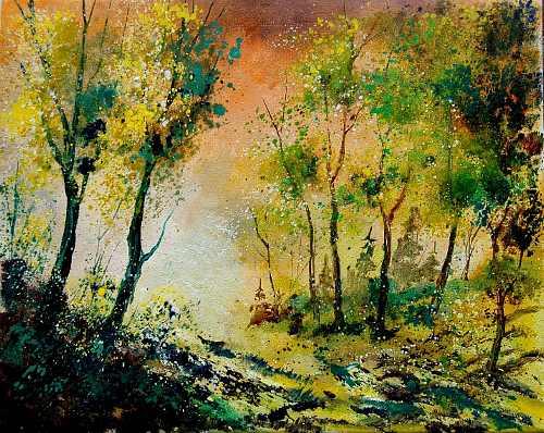 pol ledent, spring 450208, Landscapes: Spring, Nature: Wood, Romanticism, Expressionism