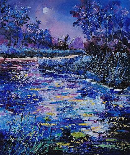 pol ledent, pond, Nature: Water, Impressionism, Modern Age