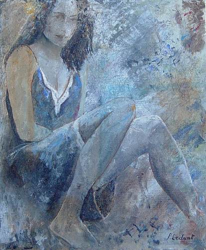 pol ledent, young girl 56 mg, People: Models, Contemporary Art, Expressionism