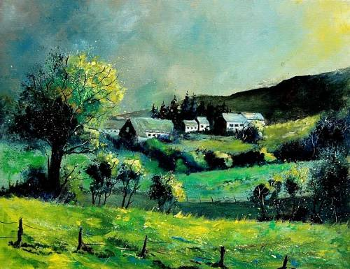 pol ledent, spring in the ardennes, Landscapes: Spring, Nature: Miscellaneous, Land-Art, Expressionism