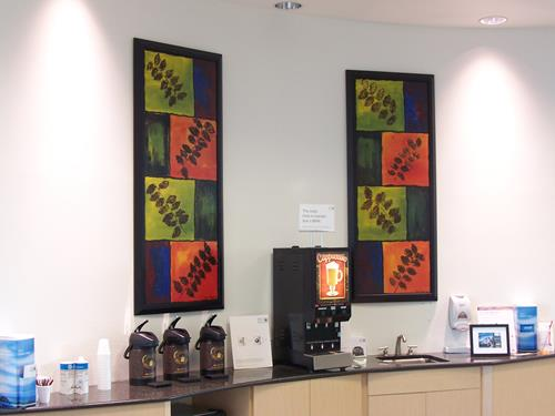 Paul Timshel, Coffee Bar I & II, Leisure, Plants: Trees, Abstract Expressionism