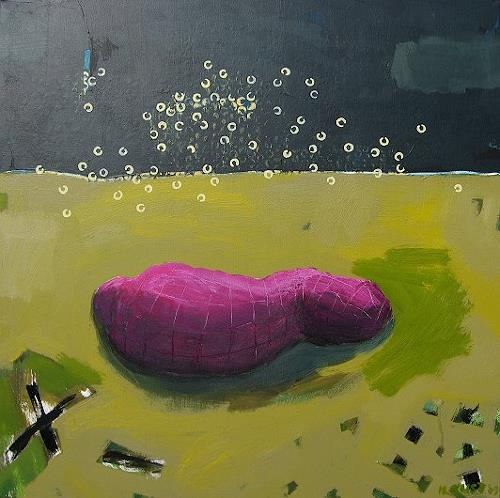 Maria Gust, outdoor, Society, Miscellaneous People, Contemporary Art, Abstract Expressionism