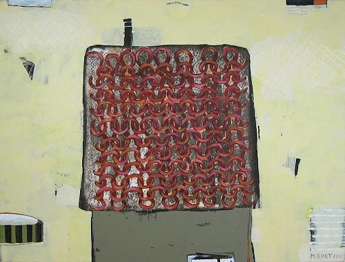 Maria Gust, warm und trocken, Abstract art, Interiors, Contemporary Art