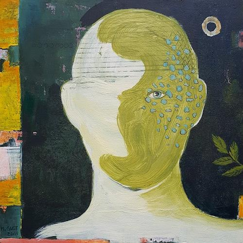 Maria Gust, werden, People: Faces, Abstract art, Contemporary Art