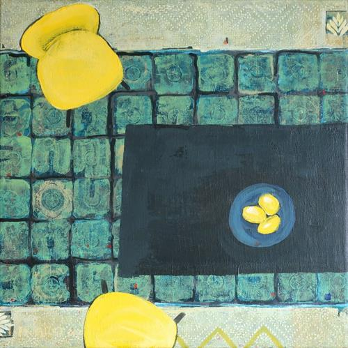 Maria Gust, yellow - missing Italy, Interiors: Rooms, Contemporary Art