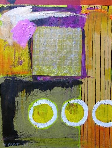 Maria Gust, Dreimal Zitrone, Abstract art, Times: Spring, Contemporary Art, Expressionism