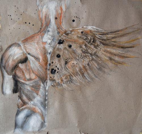 steffi huber, flüglein, People: Men, People: Men, Abstract Expressionism