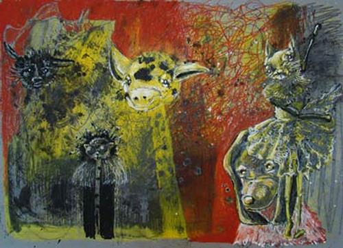 steffi huber, Giraffe, Poetry, Miscellaneous Emotions, Expressionism