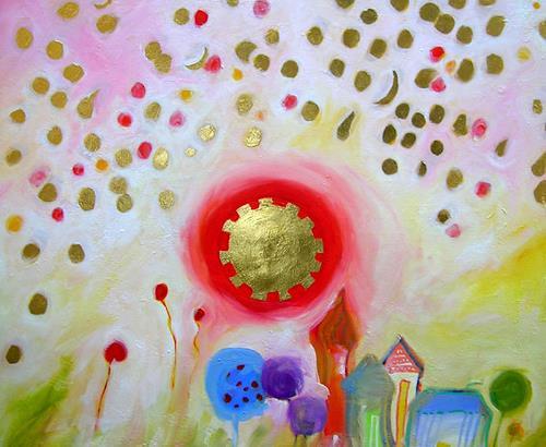 Hilde Zielinski, Starmoney-Day for a poor Village, Fantasy, Fairy tales, Contemporary Art