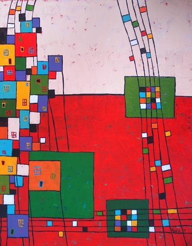 Marija, N/T, Buildings: Houses, Expressionism
