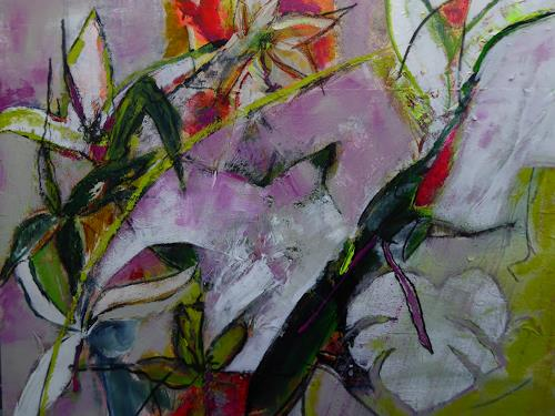 Gisela Günther, Frühling, Plants, Plants, Radical Painting